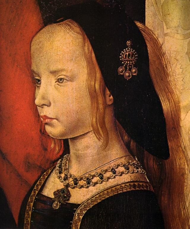 Margherita Portinari - Detalle del Tríptico Portinari