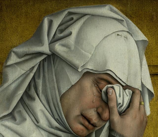 Descendimiento, de Roger van der Weyden, c. 1435 (detalle)-3