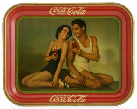 coca-cola tray 1934