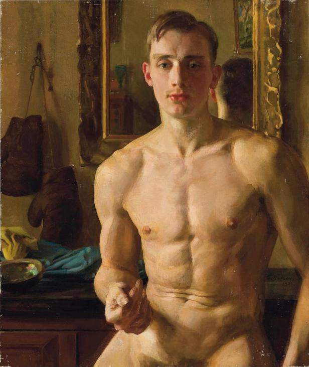 Konstantin Somov, The boxer (1933)